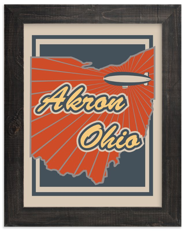 """""""Akron Ohio"""" - Art Print by Nathan Poland in beautiful frame options and a variety of sizes."""
