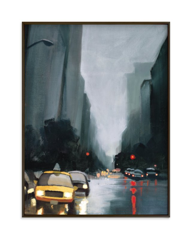 """""""taxi, taxi!"""" - Limited Edition Art Print by Rachel Nelson in beautiful frame options and a variety of sizes."""
