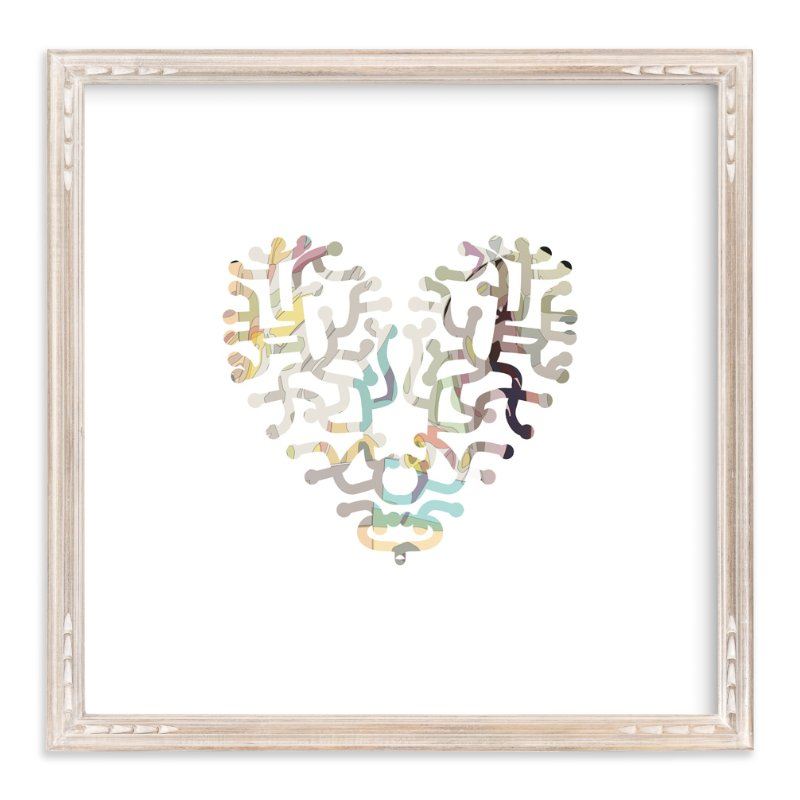 """""""Heart Maze"""" - Art Print by Pat Jennings in beautiful frame options and a variety of sizes."""