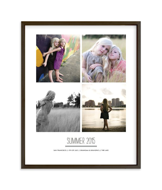 """Summer Memories"" - Children's Custom Photo Art Print by Sara Hicks Malone in beautiful frame options and a variety of sizes."