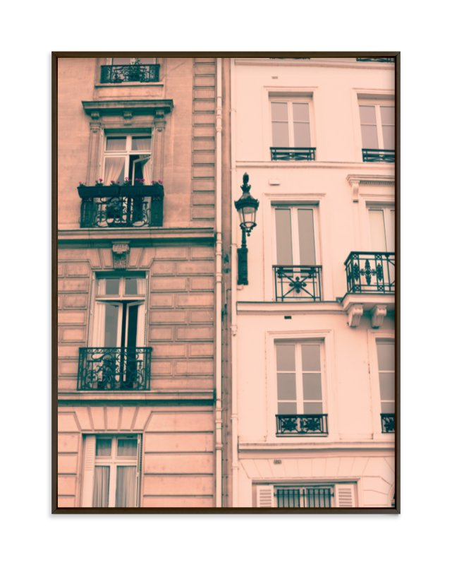 """""""Pink Facades"""" - Art Print by Caroline Mint in beautiful frame options and a variety of sizes."""
