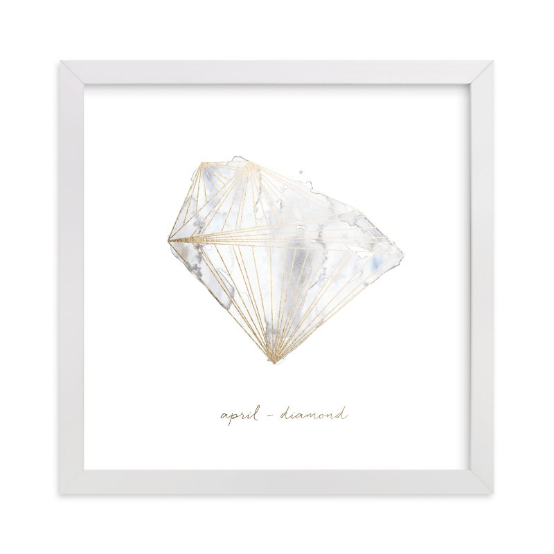 """""""April - Diamond"""" - Foil-pressed Art Print by Naomi Ernest in beautiful frame options and a variety of sizes."""