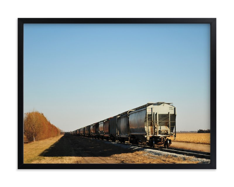 """The Grain Train"" - Art Print by Brian Collins in beautiful frame options and a variety of sizes."