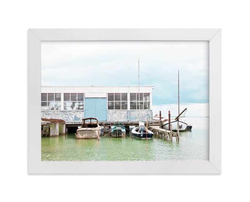 """Rusty Dock"" - Limited Edition Art Print by Alexandra Feo in beautiful frame options and a variety of sizes."