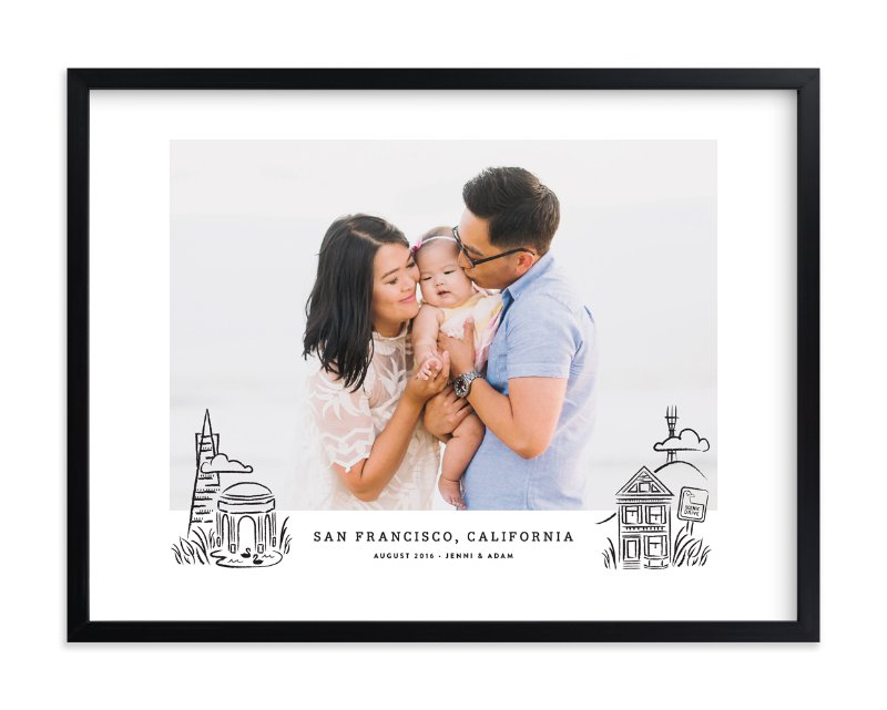 """San Francisco Keepsake 2"" - Custom Photo Art Print by Olivia Kanaley in beautiful frame options and a variety of sizes."