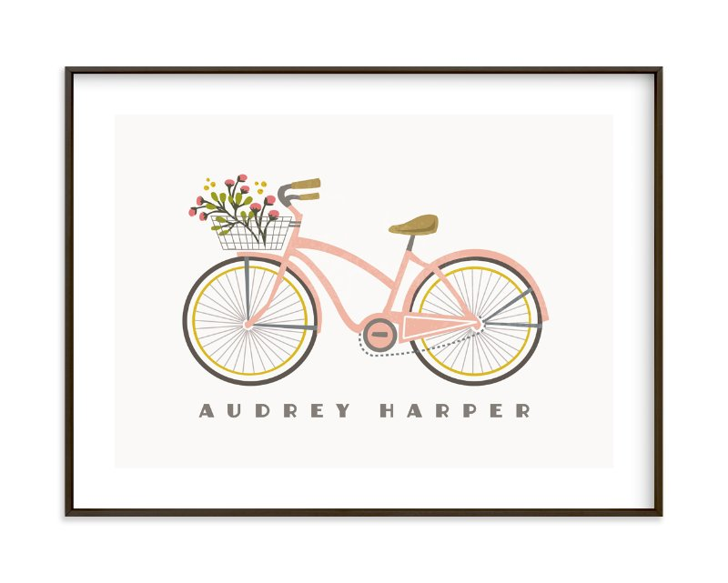 """""""Beach Cruiser"""" - Children's Custom Art Print by Karidy Walker in beautiful frame options and a variety of sizes."""