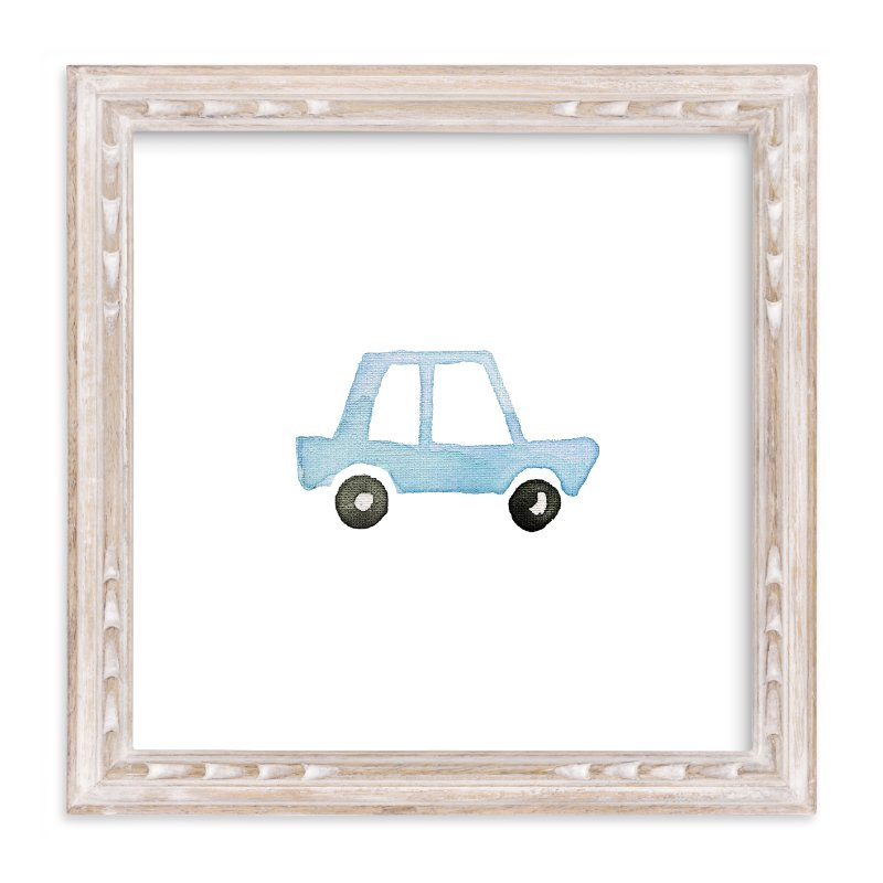 """""""Blue Car Art"""" - Art Print by Jan Dolby in beautiful frame options and a variety of sizes."""
