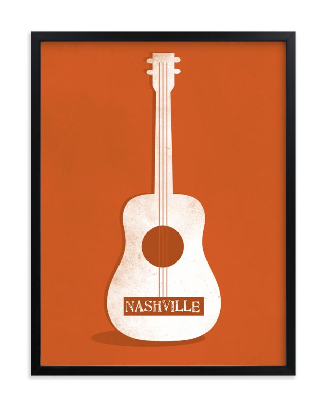 """""""Ole Nashville"""" - Art Print by Two Pooch Paperie in beautiful frame options and a variety of sizes."""