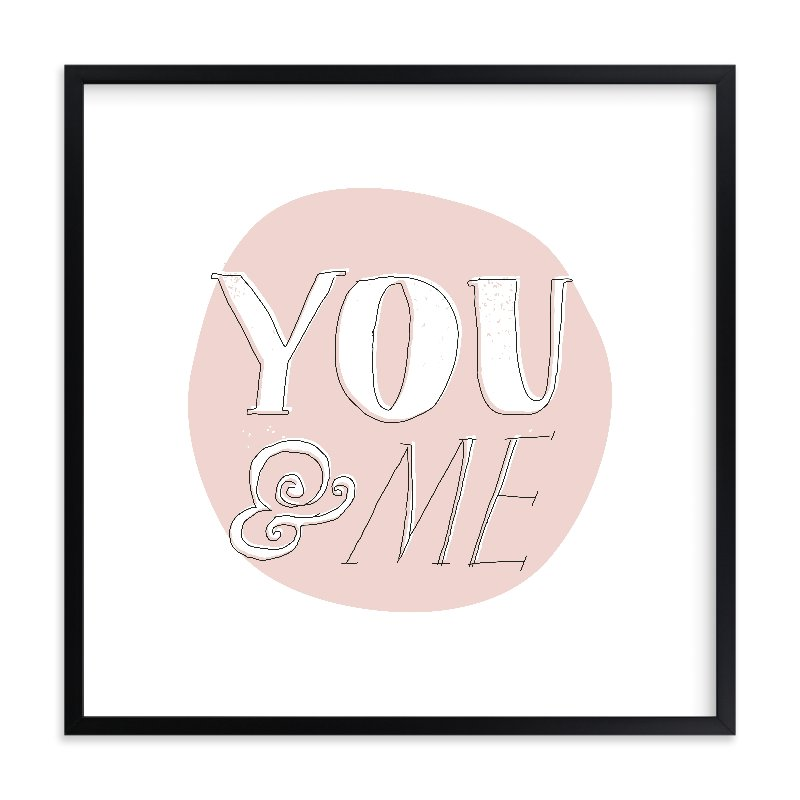 """You and Me"" - Limited Edition Art Print by Paper Rose in beautiful frame options and a variety of sizes."