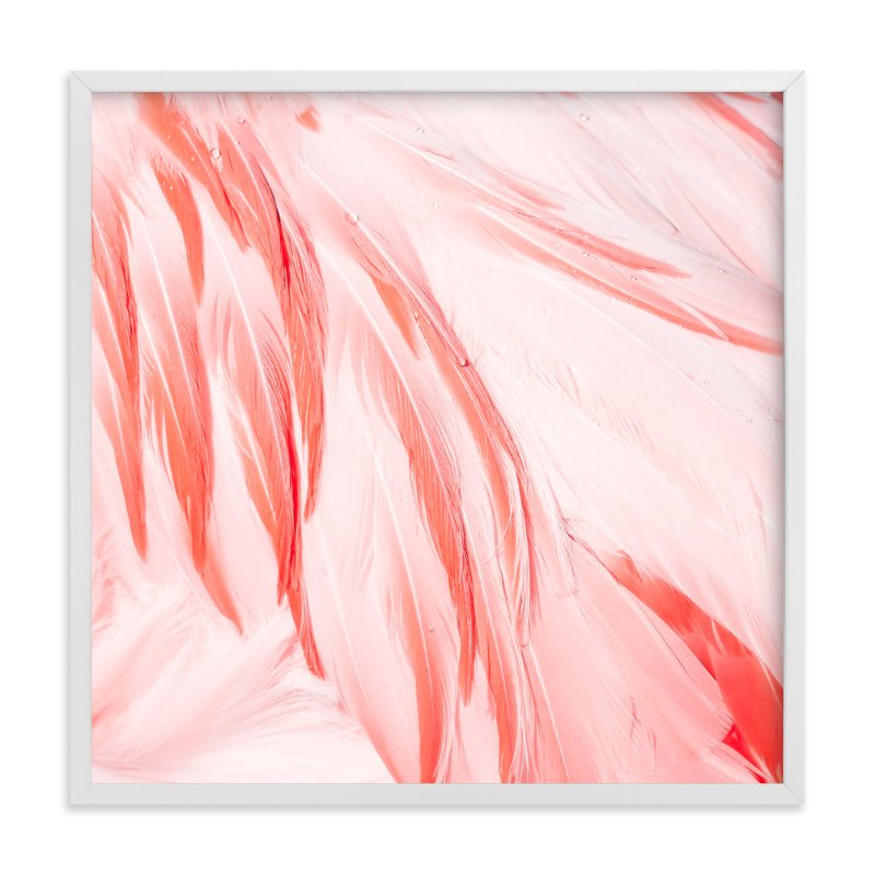 """""""Flamingo"""" - Art Print by Kamala Nahas in beautiful frame options and a variety of sizes."""