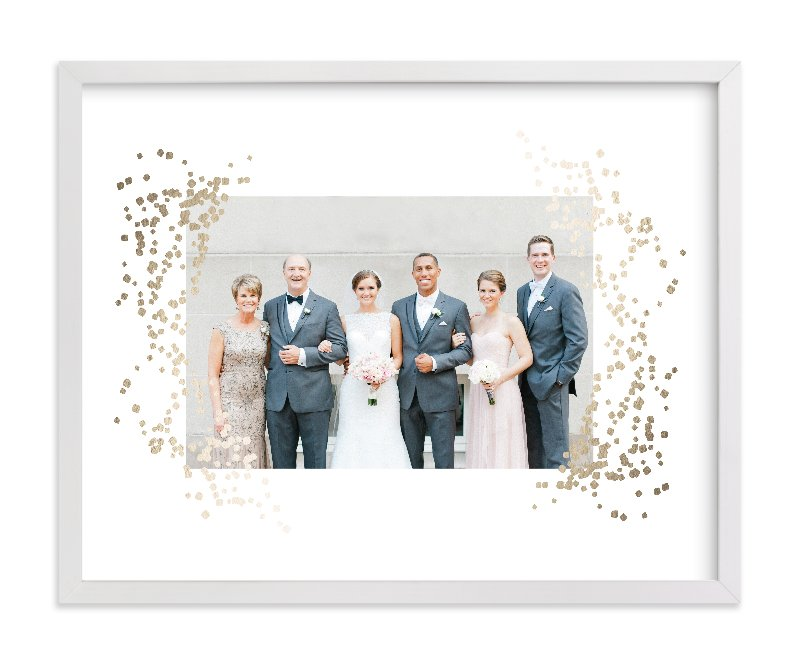 """Confettiscape"" - Foil Pressed Photo Art Print by Linda Misiura in beautiful frame options and a variety of sizes."