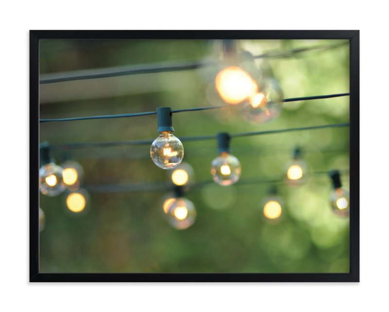 """""""String of Lights"""" - Art Print by L. Daniel in beautiful frame options and a variety of sizes."""