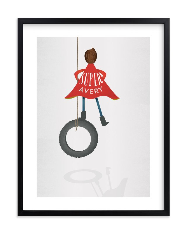 """""""Super Imagination Boy"""" - Children's Custom Art Print by Grace Kreinbrink in beautiful frame options and a variety of sizes."""