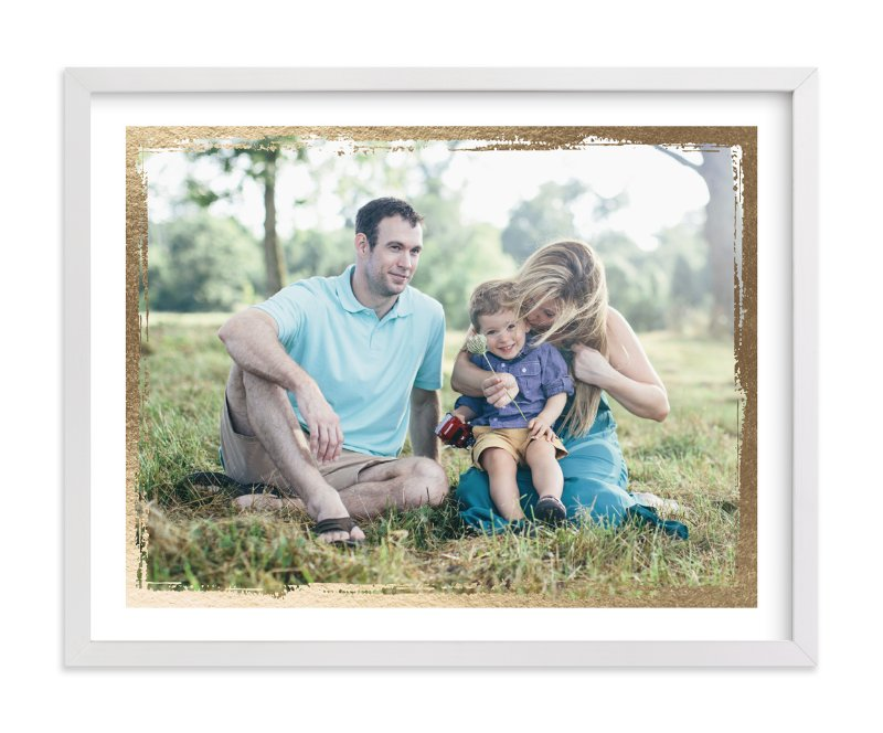 """""""Rustic Frame"""" - Foil Pressed Photo Art Print by cambria in beautiful frame options and a variety of sizes."""
