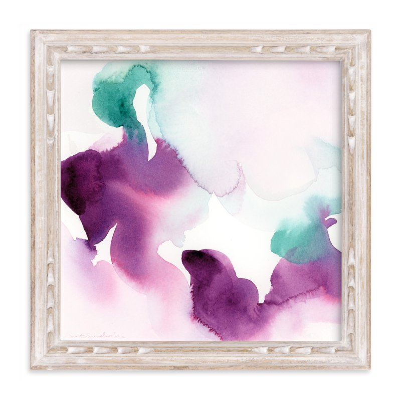 """Watercolor Abstract Flora Series : Solice"" - Art Print by V E R Y M A R T A in beautiful frame options and a variety of sizes."