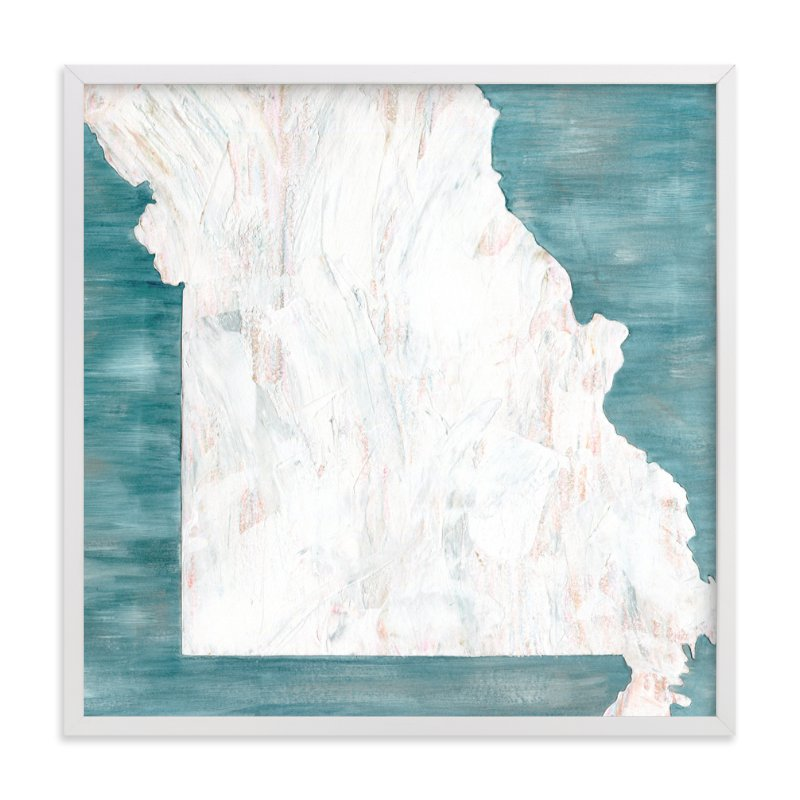 """Missouri in Paint"" - Art Print by Denise Wong in beautiful frame options and a variety of sizes."