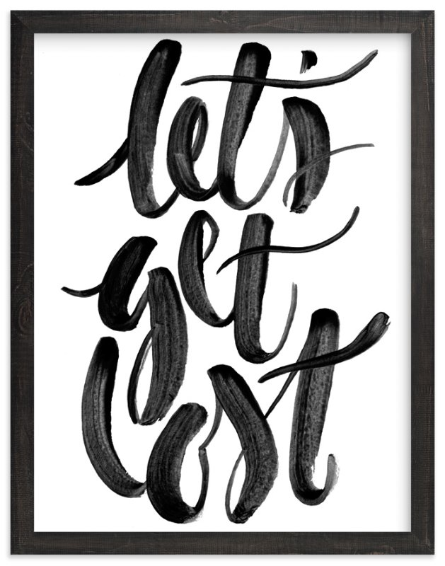 """Let's Get Lost"" - Limited Edition Art Print by Sam Dubeau in beautiful frame options and a variety of sizes."