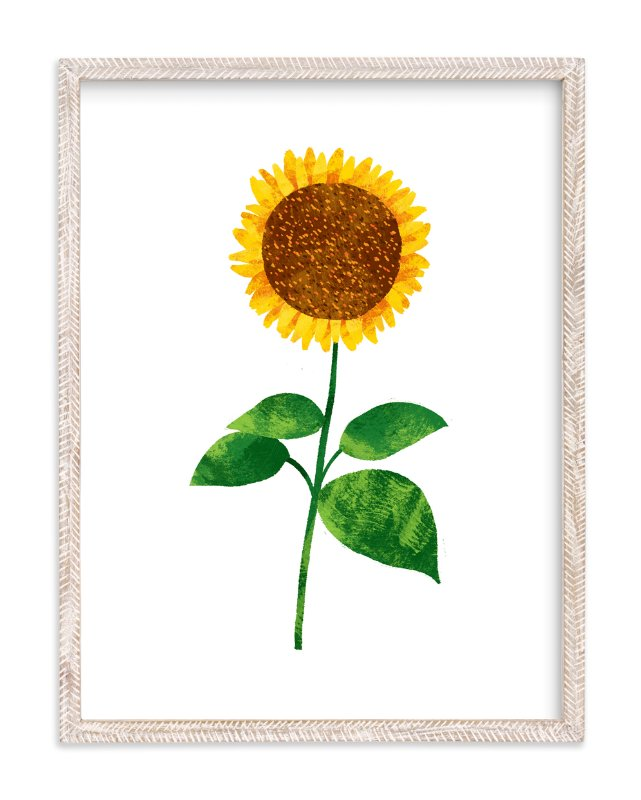 """""""Hello, Sunflower!"""" - Art Print by Evelline Andrya in beautiful frame options and a variety of sizes."""