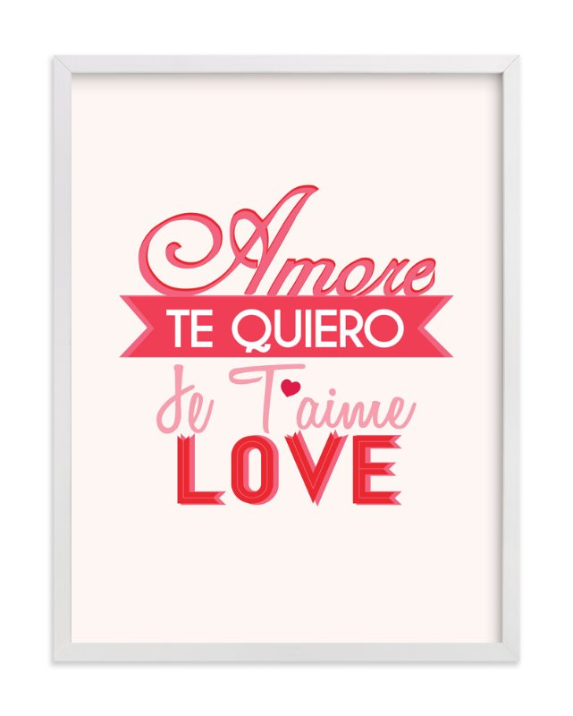 """Love Languages"" - Art Print by Red Impressionz in beautiful frame options and a variety of sizes."