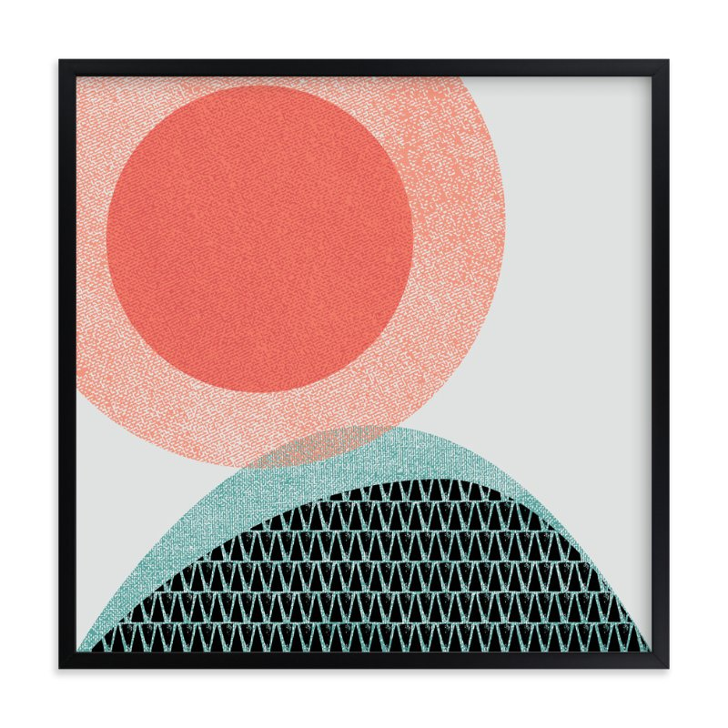 """Vista 3 - Sunrise"" - Art Print by Olivia Raufman in beautiful frame options and a variety of sizes."