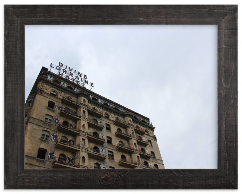 """Divine Lorraine Hotel"" - Art Print by Kate Binns in beautiful frame options and a variety of sizes."
