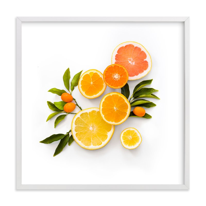 """""""Citric Splash No. 1"""" - Art Print by Maddy Hague in beautiful frame options and a variety of sizes."""