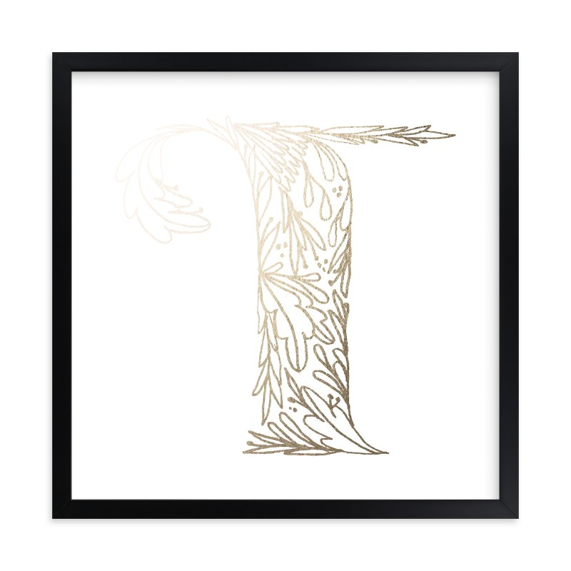 """""""Botanical T"""" - Foil-pressed Art Print by Grace Kreinbrink in beautiful frame options and a variety of sizes."""