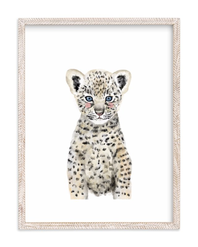 """Baby Animal Leopard"" - Art Print by Cass Loh in beautiful frame options and a variety of sizes."