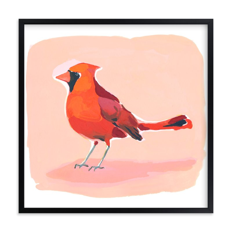 """""""Inquisitive Cardinal"""" - Art Print by Betty Hatchett in beautiful frame options and a variety of sizes."""
