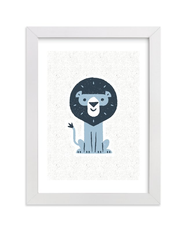 """""""mr LION"""" - Limited Edition Art Print by Bob Daly in beautiful frame options and a variety of sizes."""