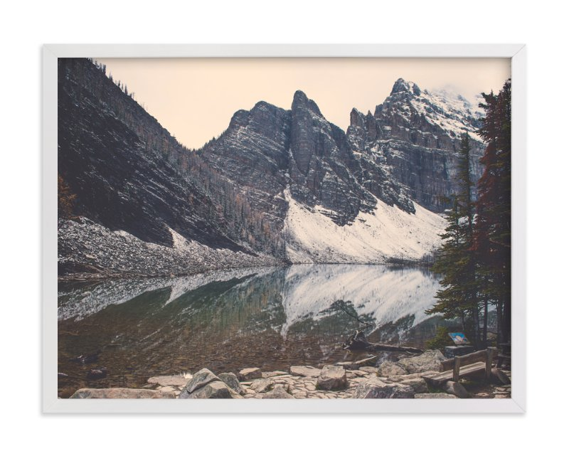 """Lake Agnes"" - Art Print by Korry Brown in beautiful frame options and a variety of sizes."