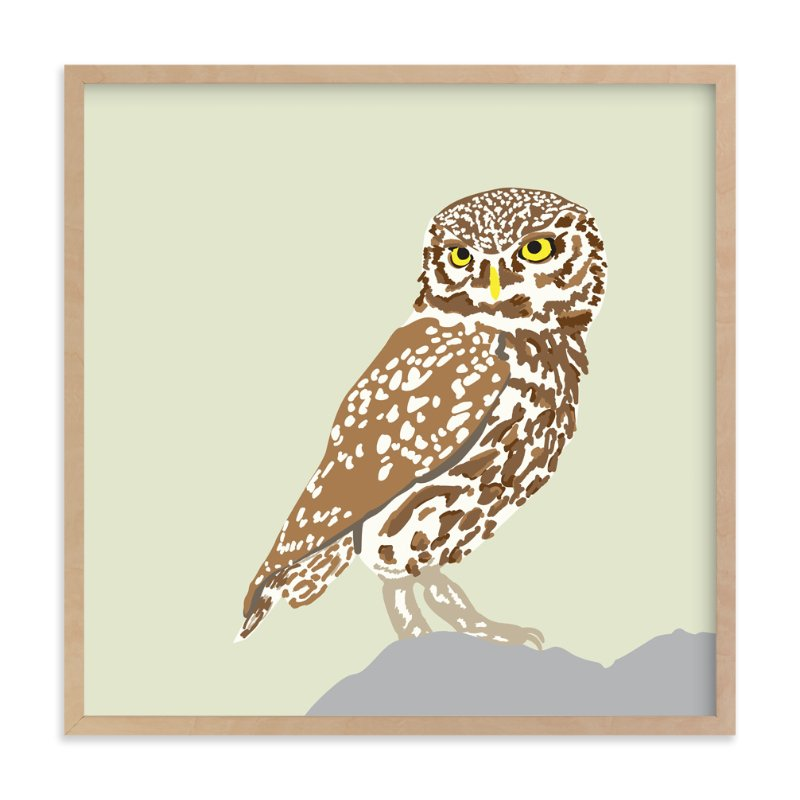 """""""Owl"""" - Art Print by Faye Femister in beautiful frame options and a variety of sizes."""
