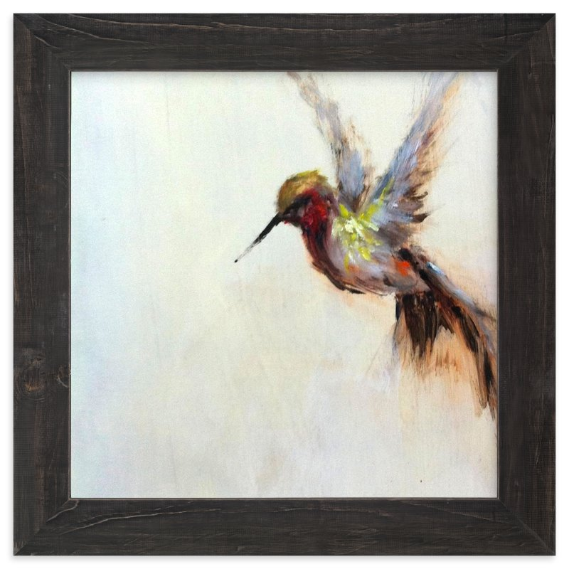 """The Humbly Hummingbird "" - Art Print by Amanda Faubus in beautiful frame options and a variety of sizes."
