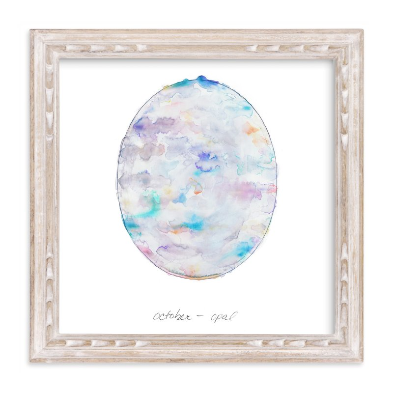 """""""October - Opal"""" - Art Print by Naomi Ernest in beautiful frame options and a variety of sizes."""