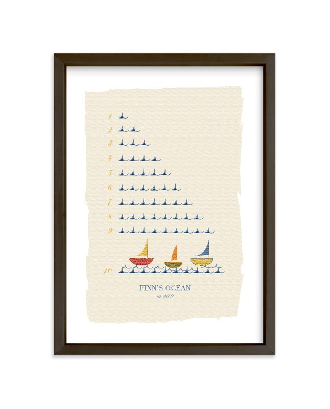 """""""The Counting Ocean"""" - Nursery Custom Art Print by Michelle Enderton in beautiful frame options and a variety of sizes."""