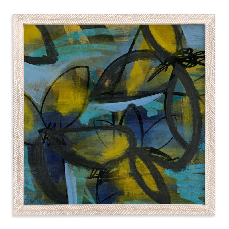 """Shining Flower Series 3"" - Art Print by Angela Simeone in beautiful frame options and a variety of sizes."