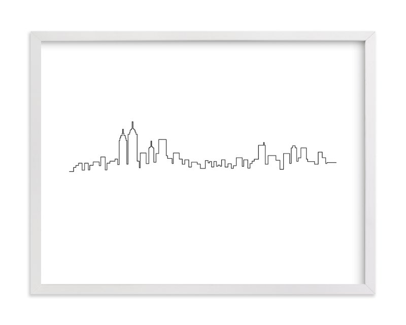 """New York"" - Art Print by Erin Deegan in beautiful frame options and a variety of sizes."