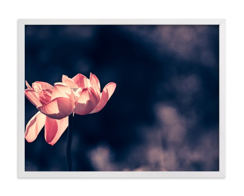 """""""Lotus No.2 - Standing Elegantly"""" - Art Print by Qing Ji in beautiful frame options and a variety of sizes."""