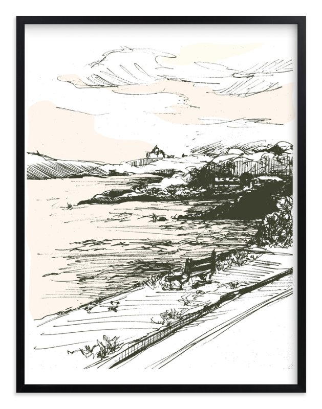 """""""the drive"""" - Art Print by pottsdesign in beautiful frame options and a variety of sizes."""