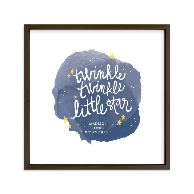 """Twinkle Twinkle Little Star"" - Children's Custom Art Print by Lacie Cunningham in beautiful frame options and a variety of sizes."