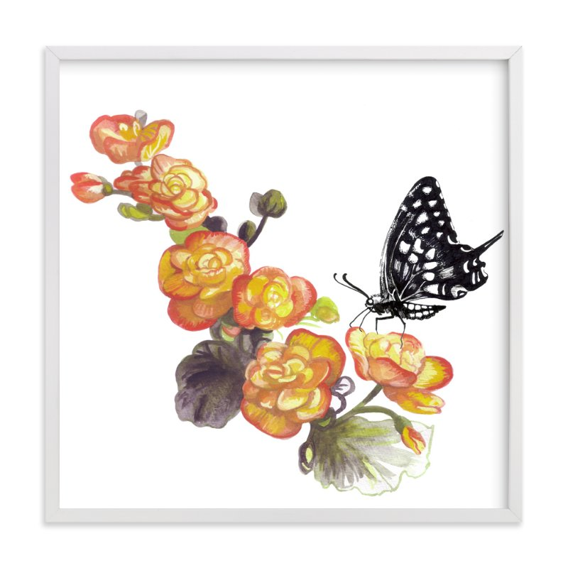 """Butterfly"" - Art Print by Lauren Matsumoto in beautiful frame options and a variety of sizes."