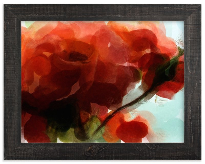 """Abstract Roses"" - Art Print by Morgan Michelle in beautiful frame options and a variety of sizes."