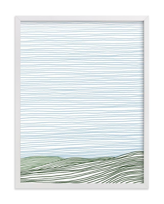 """Stripe Landscape: Green Hills"" - Art Print by Jorey Hurley in beautiful frame options and a variety of sizes."