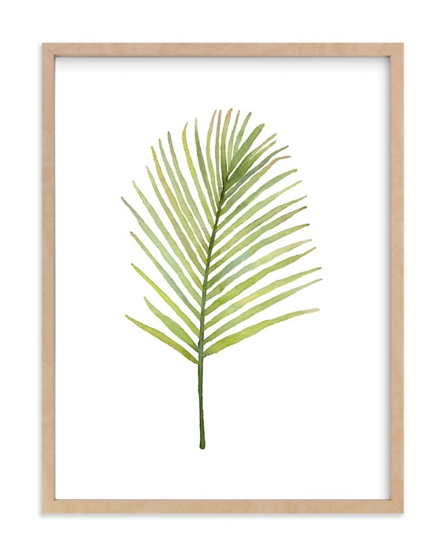 """I'm Frond of You No. 2"" - Art Print by Andi Pahl in beautiful frame options and a variety of sizes."