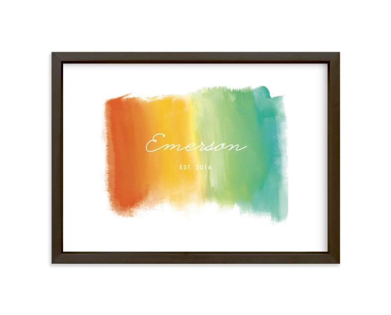 """""""Whisper Your Name"""" - Children's Custom Art Print by Susie Allen in beautiful frame options and a variety of sizes."""