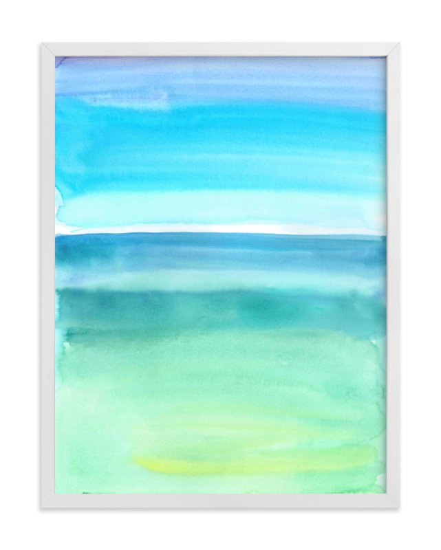 """""""Emerald Green And Blue Abstract"""" - Art Print by Sarah Bradshaw in beautiful frame options and a variety of sizes."""