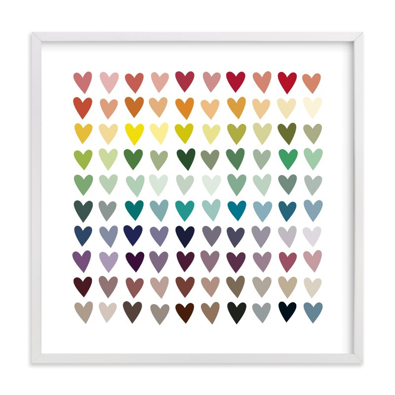 """Paper Hearts"" - Limited Edition Art Print by InkDot in beautiful frame options and a variety of sizes."