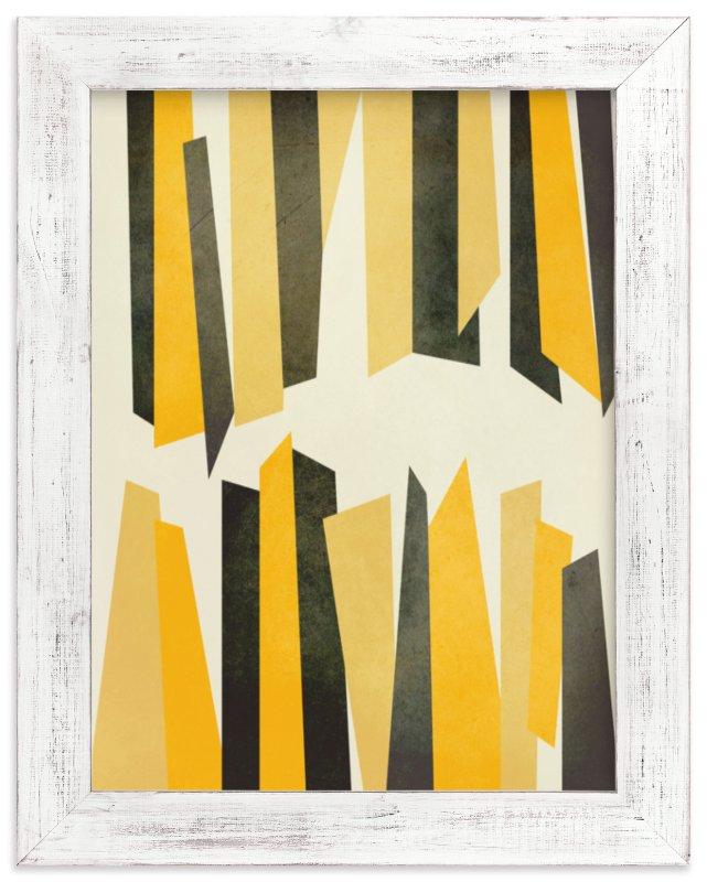 """Black and Yellow Stalactites"" - Art Print by Lucrecia in beautiful frame options and a variety of sizes."