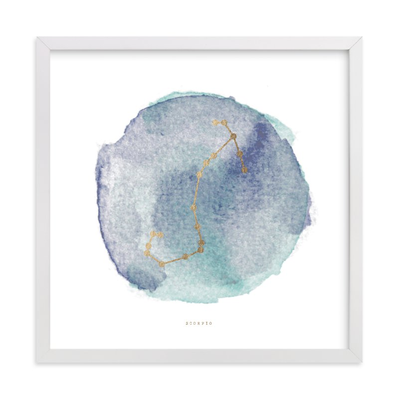 """""""Scorpio"""" - Foil-pressed Art Print by annie clark in beautiful frame options and a variety of sizes."""