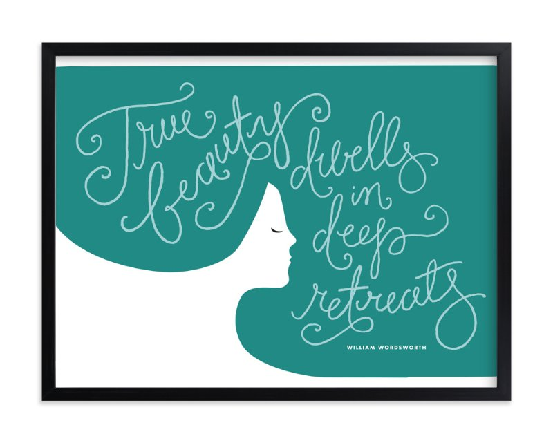"""Beauty profiled"" - Art Print by Jennifer Wick in beautiful frame options and a variety of sizes."